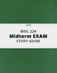 BIOL 224- Midterm Exam Guide - Comprehensive Notes for the exam ( 29 pages long!)