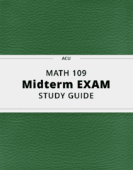 MATH 109- Midterm Exam Guide - Comprehensive Notes for the exam ( 55 pages long!)