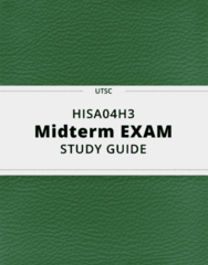 HISA04H3- Midterm Exam Guide - Comprehensive Notes for the exam ( 35 pages long!)