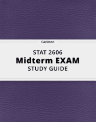 STAT 2606- Midterm Exam Guide - Comprehensive Notes for the exam ( 36 pages long!)