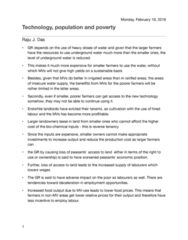 GEOG 1400 Chapter Notes - Chapter 2: Multiple Cropping, Labour Power, Surplus Labour