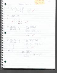 MATH 1200 Midterm: Practise test 1