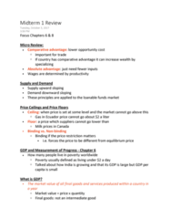 ECON 1102 Study Guide - Midterm Guide: Loanable Funds, Economic Equilibrium, Absolute Advantage