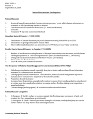 ENSC 2001 Lecture Notes - Lecture 3: Natural Hazard, Northern Ontario, Land Degradation