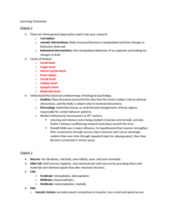 PSYC 280 Study Guide - Midterm Guide: Axon Hillock, Cranial Nerves, Chemical Synapse