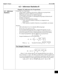 STAT 3005 Lecture Notes - Lecture 6: Randomized Experiment, Dependent And Independent Variables, Confidence Interval