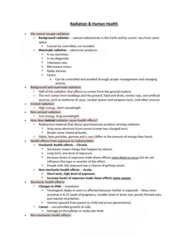 EESA10H3 Lecture Notes - Lecture 6: Tumor Suppressor Gene, Microwave Oven, Background Radiation