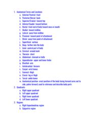 BMS 250 Study Guide - Midterm Guide: Epigastrium, Standard Anatomical Position, Anterior Tibiofibular Ligament