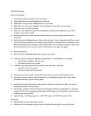 MGMA01H3 Lecture Notes - Lecture 1: Customer Relationship Management