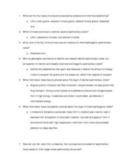 ESCI 1001 Study Guide - Quiz Guide: Breccia, Sedimentary Structures, Biogenic Substance