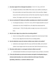 ESCI 1001 Study Guide - Quiz Guide: Submarine Volcano, Continental Crust, Seafloor Spreading