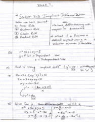 MATH 203 Lecture 7: Implicit Differentiation