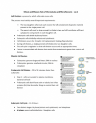 BIOA01H3 Lecture Notes - Lecture 6: Karyotype, Plant Cell, Post-Translational Modification