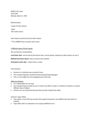 COIS 2240H Lecture Notes - Lecture 9: Compile Time, Type Safety