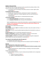 ACTG 2P40 Lecture 2: Chapter 4 Intentional or Unintentional Tort Notes