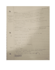 CANS 310 Lecture 20: CANS 310 Notes 31st Oct