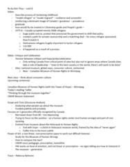 CANS 310 Lecture Notes - Lecture 22: Smallpox, Rebecca Belmore