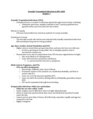 PSYC 250 Lecture Notes - Lecture 6: Congenital Syphilis, Cervical Cancer, Sarcoma