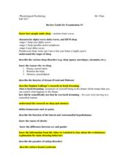 PSY 350 Study Guide - Quiz Guide: Lucid Dream, Ventromedial Nucleus Of The Hypothalamus, Delta Wave