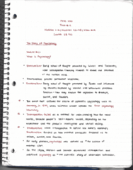 PSYC 1010 Study Guide - Midterm Guide: E-Selectin, Cognitive Revolution, Ob River