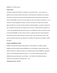 FA 34a Lecture Notes - Lecture 12: Jataka Tales, Northern Wei, Buddhism In Mongolia
