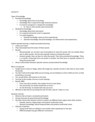 PSYC 2700 Lecture Notes - Lecture 9: Brodmann Area 10, Prefrontal Cortex, Episodic Memory