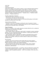 STAT 2507 Lecture Notes - Lecture 8: Bias Of An Estimator, Interval Estimation, Point Estimation