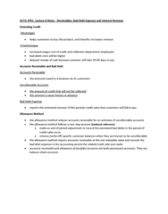 ACTG 1P91 Lecture Notes - Lecture 7: Accounts Receivable, Income Statement, Promissory Note