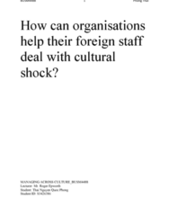 ADM 1300 Lecture Notes - Lecture 2: Culture Shock, Human Resource Management, Multinational Corporation