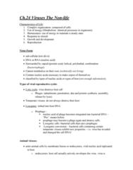 BIOL 112 Chapter Notes - Chapter 24: Reverse Transcriptase, Retrovirus, Transmissible Spongiform Encephalopathy