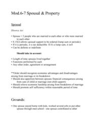 LEGL-280 Lecture Notes - Lecture 6: Counterclaim, Matrimonial Regime, Payment