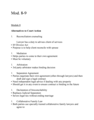 LEGL-280 Lecture Notes - Lecture 8: Collaborative Law, Parens Patriae