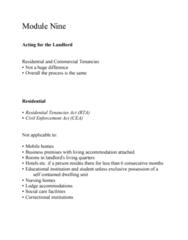 LEGL-260 Lecture Notes - Lecture 9: Personal Property, Demand Letter, Distraint