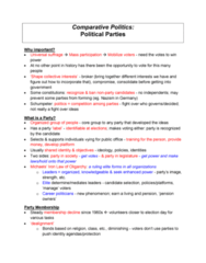 Political Science 1020E Study Guide - Quiz Guide: Campaign Finance In The United States, Communist Party Of China, Dealignment