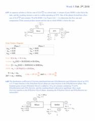PROCTECH 2EC3 Lecture Notes - Lecture 9: Quadratic Equation, Ethylene Glycol, Ethylbenzene