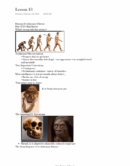 HISTORY 2720 Lecture Notes - Lecture 13: Radiometric Dating, Oldowan, Ardipithecus