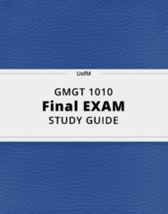 GMGT 1010- Final Exam Guide - Comprehensive Notes for the exam ( 52 pages long!)