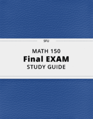 MATH 150- Final Exam Guide - Comprehensive Notes for the exam ( 127 pages long!)