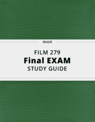 FILM 279- Final Exam Guide - Comprehensive Notes for the exam ( 66 pages long!)