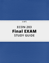 ECON 203- Final Exam Guide - Comprehensive Notes for the exam ( 28 pages long!)