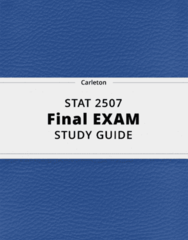 STAT 2507- Final Exam Guide - Comprehensive Notes for the exam ( 49 pages long!)
