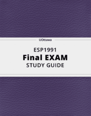 ESP1991- Final Exam Guide - Comprehensive Notes for the exam ( 137 pages long!)