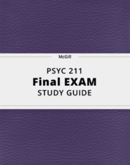 PSYC 211- Final Exam Guide - Comprehensive Notes for the exam ( 104 pages long!)