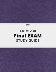 CRIM 230- Final Exam Guide - Comprehensive Notes for the exam ( 53 pages long!)