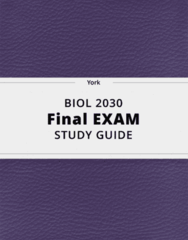 BIOL 2030- Final Exam Guide - Comprehensive Notes for the exam ( 95 pages long!)