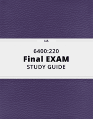 6400:220- Final Exam Guide - Comprehensive Notes for the exam ( 23 pages long!)