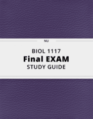 BIOL 1117- Final Exam Guide - Comprehensive Notes for the exam ( 32 pages long!)