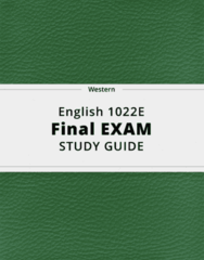 English 1022E- Final Exam Guide - Comprehensive Notes for the exam ( 23 pages long!)