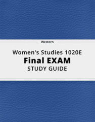 Women's Studies 1020E- Final Exam Guide - Comprehensive Notes for the exam ( 94 pages long!)