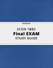 ECON 1BB3- Final Exam Guide - Comprehensive Notes for the exam ( 23 pages long!)